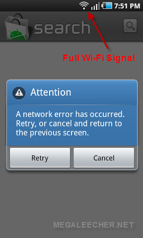 Wi-Fi Error On Samsung Galaxy i9000