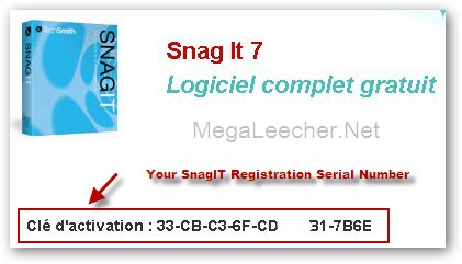 SnagIT 7 installer. from here and use the key above to register.
