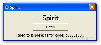 Spirit Jailbreak Error