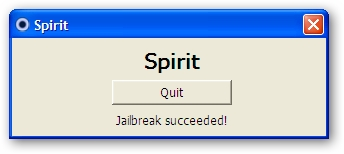 Spirit Jailbreak Success