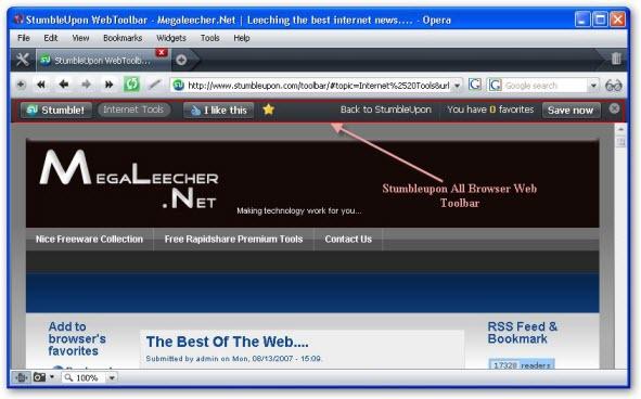 Cross Browser Web Toolbar