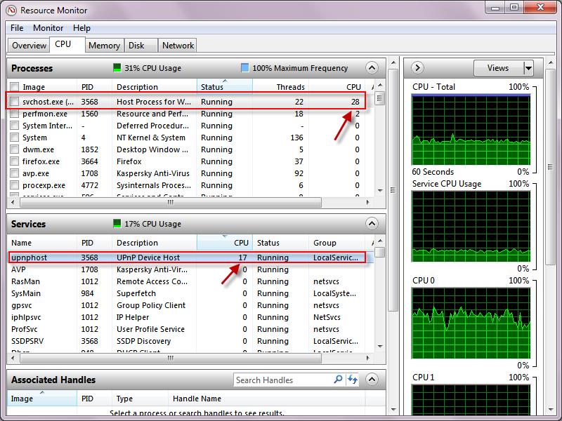 high cpu usage fix windows 7