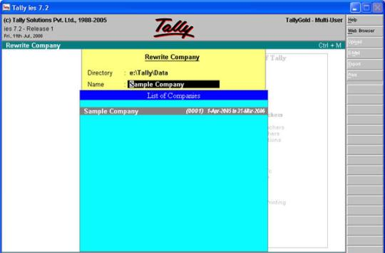 Tally Data Recovery
