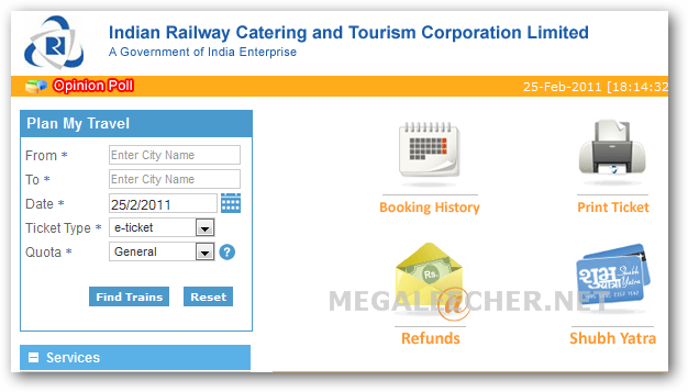 IRCTC Train Booking System
