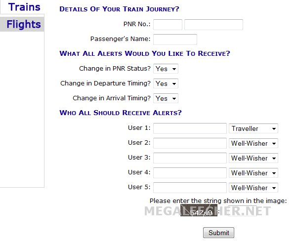PNR Tracking