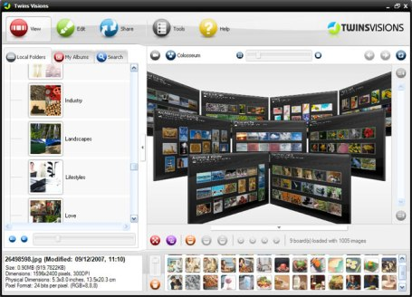 Twinsvisions free 3d photo management software Free 3d software