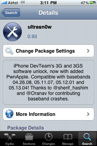 ultrasn0w Carrier Unlock For Apple iOS4