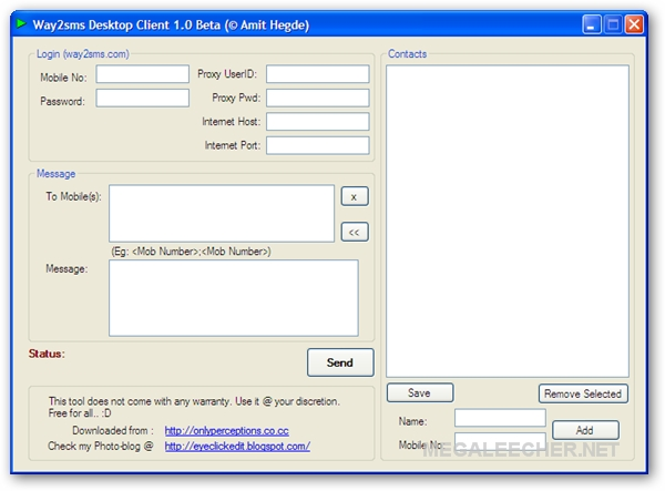 Way2Sms Client - Convenient Utility To Send Free SMS Messages Across