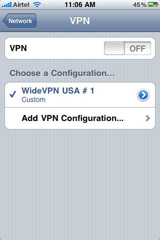 iPhone VPN Profile