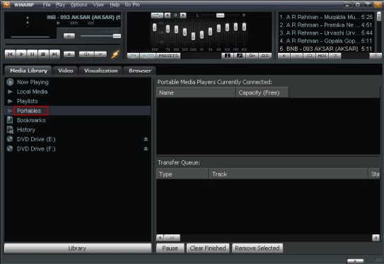 Winamp Portable Devices