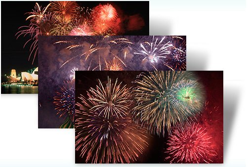 spark your new year with these images of celebratory fireworks around the world in this windows 7 theme