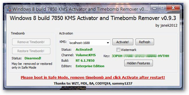 KMS Activator And Watermark Remover For Windows 8