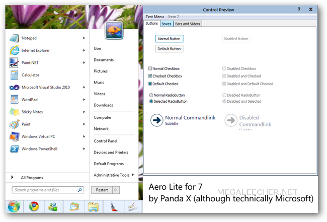 windows 8 theme. Windows 8 Aero Lite Visual