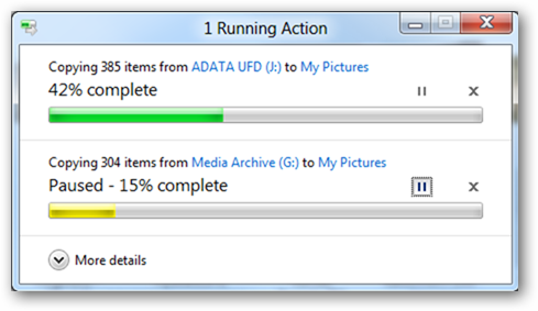 New Windows 8 File Management Feature With Pause Functionality