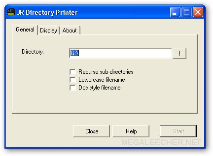 Free Directory Lister For Windows