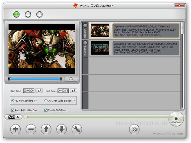 WinX DVD Author For Windows