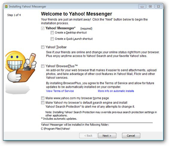how to get yahoo messenger to work