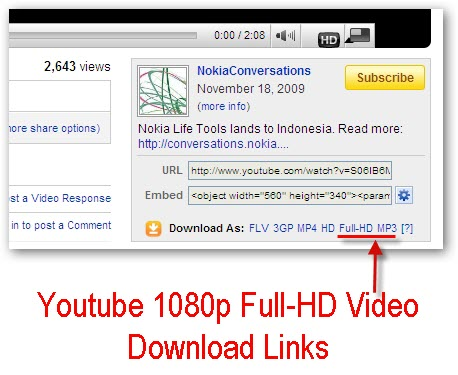 Youtube introduces 1080p full hd videos we tell you how to download 720p hd and 1080p full hd qualities than free firefox addon easy youtube video downloader which recently got updated to v 20 and becoming the worlds ccuart Images