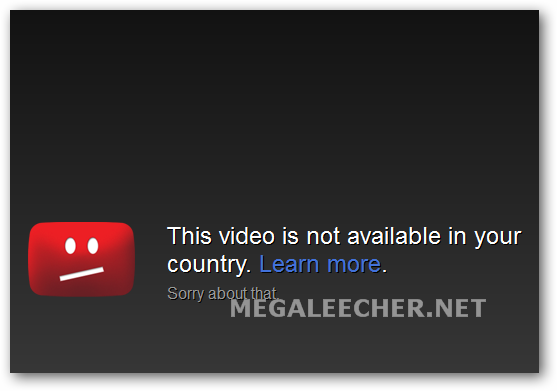 Youtube Error Message