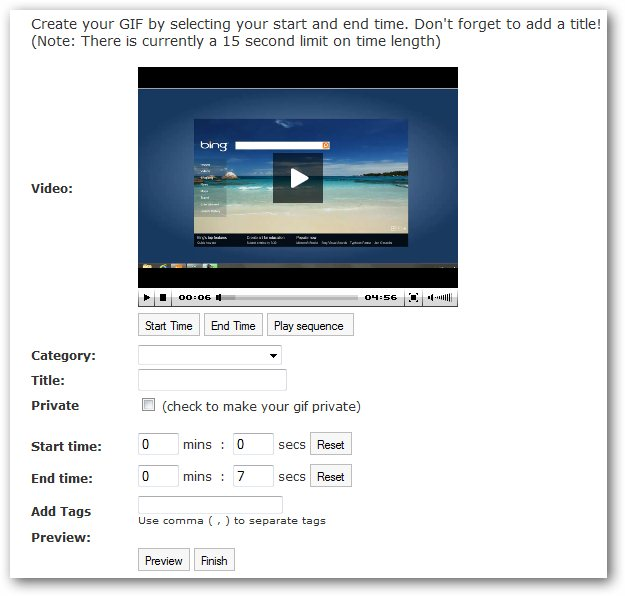Want to extract and convert a part of Youtube video as animated GIF image ?