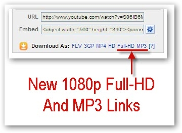 Updated MP3 and 1080p Full-HD Youtube Video Download Links