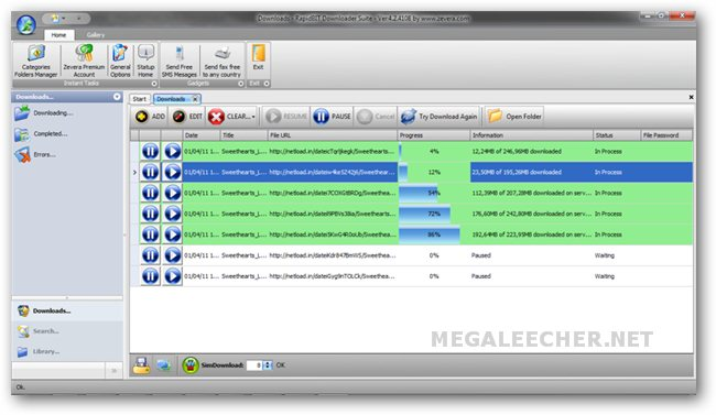 Zevera Downloader 2011